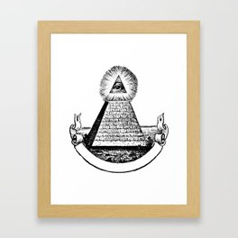 the Eye of Providence from the Great seal of America  All seeing Eye us dollar money cash Pyramid Framed Art Print