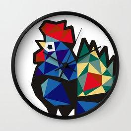 Polish Folk Rooster Wall Clock