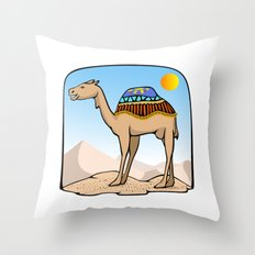Exalted Camel Throw Pillow