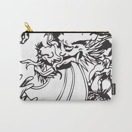 Oriental Dragon Line Art Carry-All Pouch