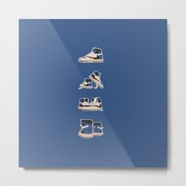 fragment x travis x air jordan 4 pairs sneaker poster  Metal Print
