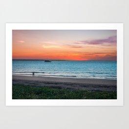Sunset in Darwin, Australia Art Print