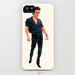 Dr. Ian Malcolm's Super-relaxed Walk iPhone Case