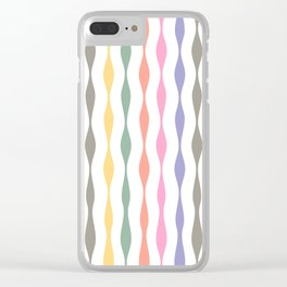 pastel streamers Clear iPhone Case