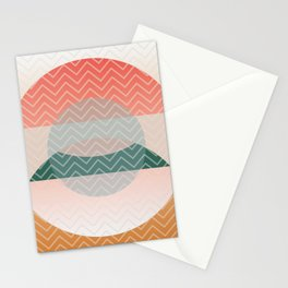 Summer Air, Geometrc Landscape Stationery Cards