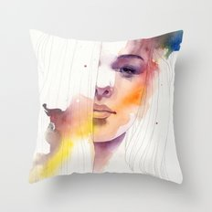 Autumn Watercolour Throw Pillow
