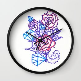 51. Women's love - Dimond and Rose  Wall Clock