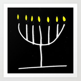 menorah,Hanukkah,jewish,jew,judaism,Festival ofLights,Dedication,jerusalem,lampstand,Temple Art Print