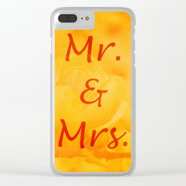 Mr. and Mrs. Clear iPhone Case