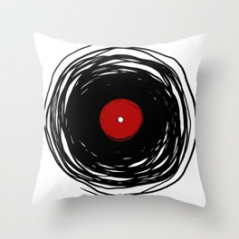Spinning within with a vinyl record... Throw Pillow