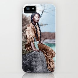 Native Girl iPhone Case