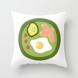 Healthy breakfast minimalistic illustration. Throw Pillow