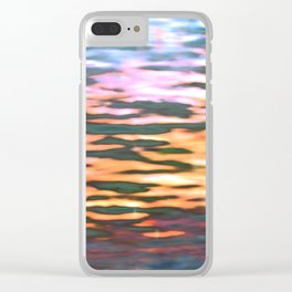 sunset reflection Clear iPhone Case