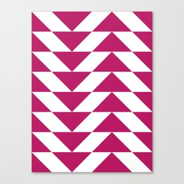 Fuschia Triangle Canvas Print
