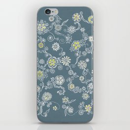 Floral Print iPhone Skin