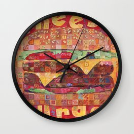 Double Cheeseburger Wall Clock