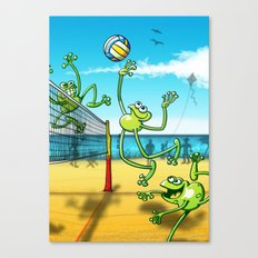 Olympic Volleyball Frog Canvas Print