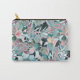 Floral, geometric abstraction Carry-All Pouch
