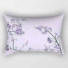 Spring Lavender Flowers Rectangular Pillow