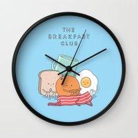 breakfast club Wall Clocks featuring The Breakfast Club by Jaco Haasbroek