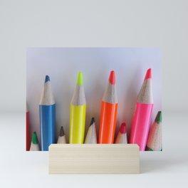 Colored Pencil Tips Mini Art Print