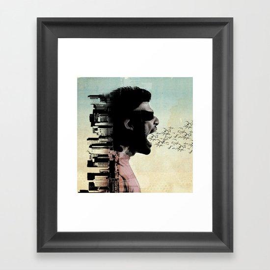 cry city Framed Art Print