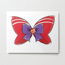 Sailor Mars Bow Metal Print