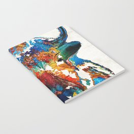 Colorful Buffalo Art - Sacred - By Sharon Cummings Notebook