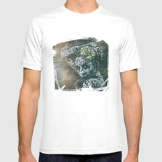 Porcelain Stare Mens Fitted Tee MEDIUM White