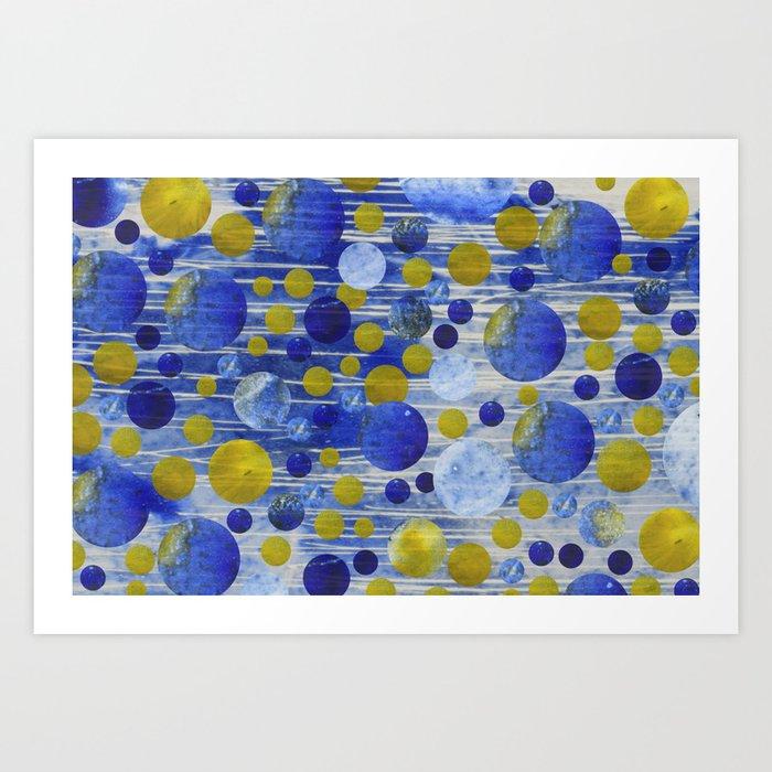 Abstract Blue Art Print