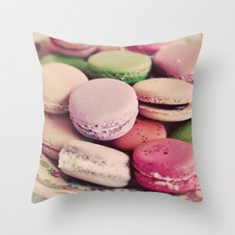 Sweet Macarons Throw Pillow