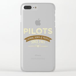 Pilot Proud Aviation Lover Gift Idea Clear iPhone Case