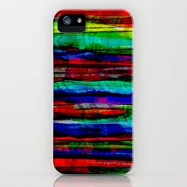 colorful bohemian pattern iPhone Case
