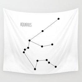 Zodiac: Aquarius (White) Wall Tapestry