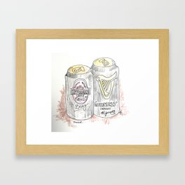 Cans. Framed Art Print