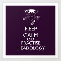 discworld Art Prints featuring discworld - keep calm and practise headology by Rebecca McGoran