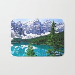 Canadian Wonder: Moraine Lake Bath Mat