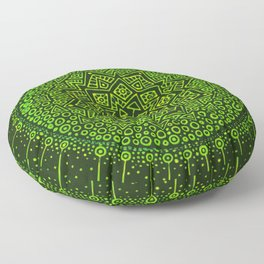 Green sun and her planets Floor Pillow