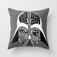 celtic Throw Pillows featuring Celtic Vader by ronnie mcneil
