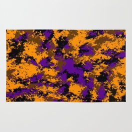 Camping, Purple Night Sky Through the Trees; Fluid Abstract 59 Rug