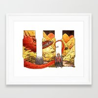 smaug Framed Art Prints featuring Smaug by CatInSpats