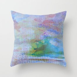 Words and Water Paint 3 Throw Pillow