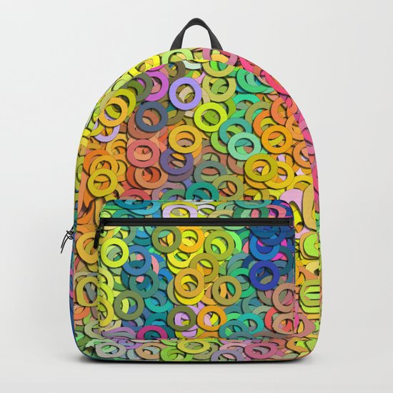 Little colorful rings Backpack