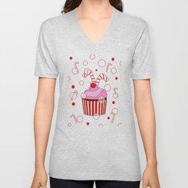 Festive Cupcake Unisex V-Neck