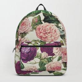 Light Floral Pattern Backpack