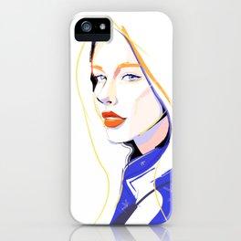 Indigo Blue Confident Beauty iPhone Case