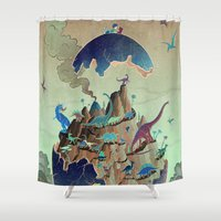 imagination Shower Curtains featuring Imagination  by dreamshade