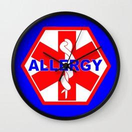 ALLERGY MEDICALALERT IDENTIFICATION TAG Wall Clock