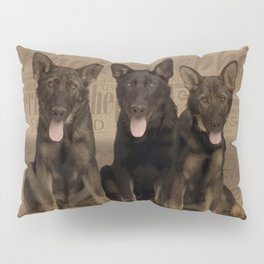 German Shepherd Puppies Pillow Sham