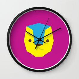 Lion in Purple Wall Clock